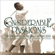 Cover of: Considerable passions