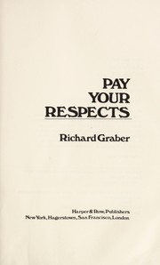 Cover of: Pay your respects