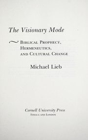 Cover of: The visionary mode