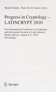 Cover of: Progress in cryptology