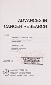 Cover of: Advances in Cancer Research | George F. Vande Woude