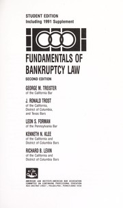 Cover of: Fundamentals of bankruptcy law | George M. Treister ... [et al.].