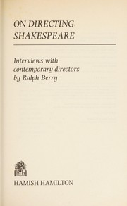 Cover of: On directing Shakespeare | Ralph Berry