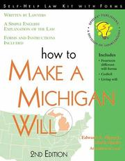 Cover of: How to make a Michigan will: with forms