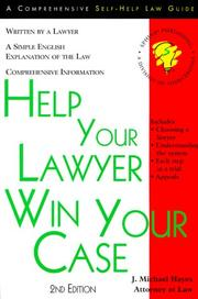 Cover of: Help your lawyer win your case