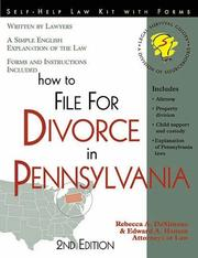 How to file for divorce in Pennsylvania by Rebecca A. DeSimone
