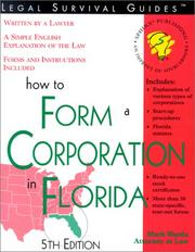 Cover of: How to form a corporation in Florida: with forms