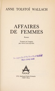 Cover of: Affaires de femmes