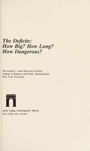 Cover of: The deficits