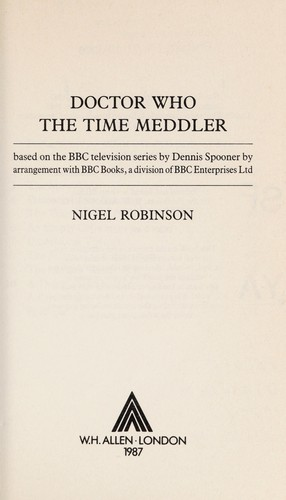 Doctor Who : The Time Meddler by