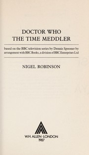 Cover of: Doctor Who : The Time Meddler |