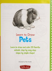 Cover of: Learn to draw pets | Peter Mueller