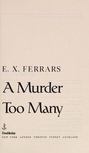 Cover of: A Murder Too Many
