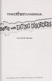 Cover of: Teens with eating disorders