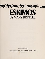 Cover of: Eskimos. | Mary Bringle