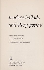 Cover of: Modern ballads and story poems. | Charles Causley