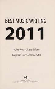 Cover of: Best music writing 2011