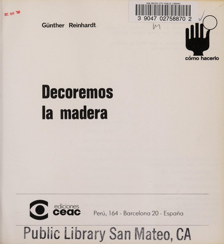 Decoremos LA Madera by Gunther Reinhardt
