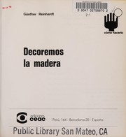 Cover of: Decoremos LA Madera | Gunther Reinhardt