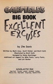 Cover of: Garfield's big book of excellent excuses