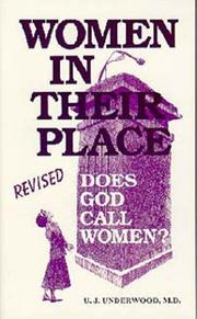 Cover of: Women in their place