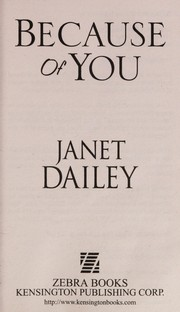 Cover of: Because of you | Janet Dailey