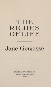 Cover of: The riches of life