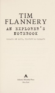 Cover of: An explorer's notebook