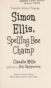 Cover of: Simon Ellis, spelling bee champ