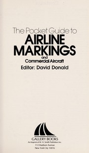 Cover of: The Pocket Guide to Airline Markings and Commercial Aircraft | David Donald