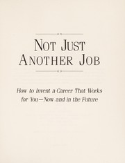 Cover of: Not just another job | Tom Jackson