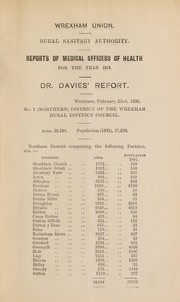 Cover of: [Report 1894] | Wrexham (Wales). Rural District Council