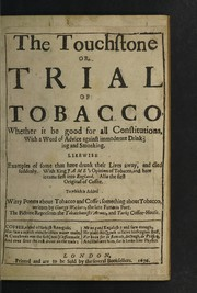 Cover of: Two broad-sides against tobacco