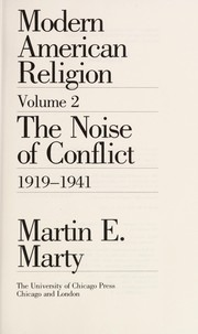 Cover of: Modern American religion | Marty, Martin E.