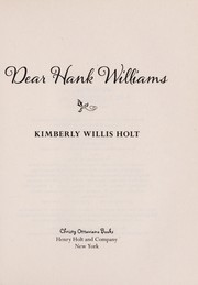 Cover of: Dear Hank Williams