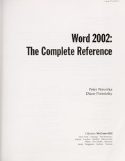 Cover of: Word 2002
