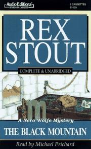 Cover of: The Black Mountain | Rex Stout
