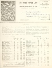 Cover of: 1931 fall trade list
