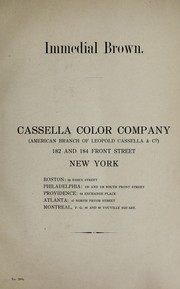 Cover of: Immedial brown | Cassella Color Company.