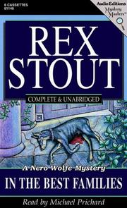Cover of: In the Best Families (Stout, Rex)
