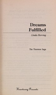Cover of: Dreams Fulfilled | Linda Herring
