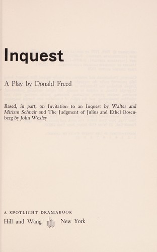 Inquest by Donald Freed