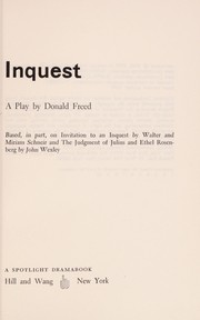 Cover of: Inquest | Donald Freed