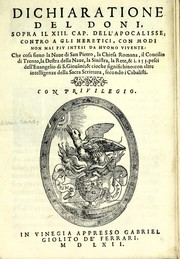 Cover of: Dichiaratione del Doni