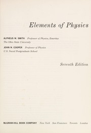 Cover of: The elements of physics