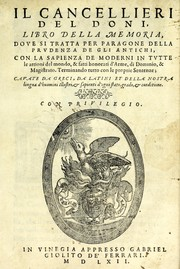 Cover of: Il cancellieri del Doni