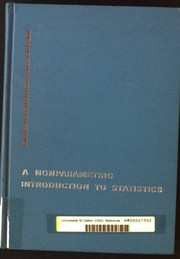 Cover of: A nonparametric introduction to statistics