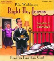 Cover of: Right Ho, Jeeves (Audio Editions) | P. G. Wodehouse