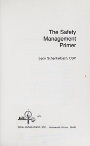 Cover of: The safety management primer