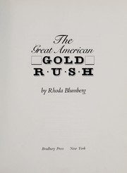 Cover of: The great American gold rush